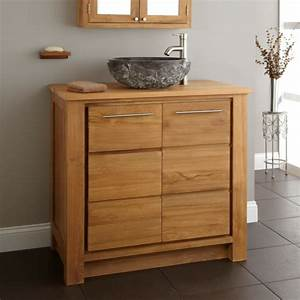 le meuble de salle de bains en teck archzinefr With meuble de salle de bain en teck solde