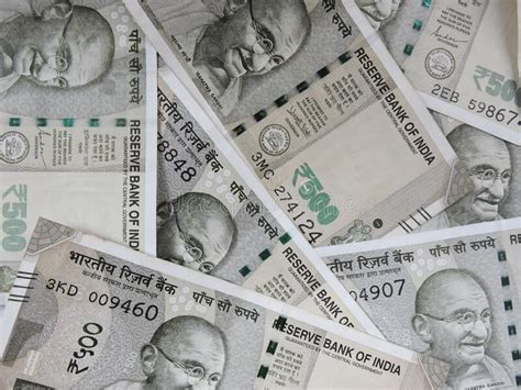 Indian currency 500 rupees stock image. Image of drawing ...
