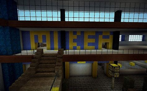 modern shopping center mall minecraft project
