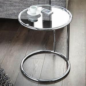 Beistelltisch Silber Rund : design beistelltisch galano glastisch wohnzimmertisch silber rund 40 cm ebay ~ Indierocktalk.com Haus und Dekorationen