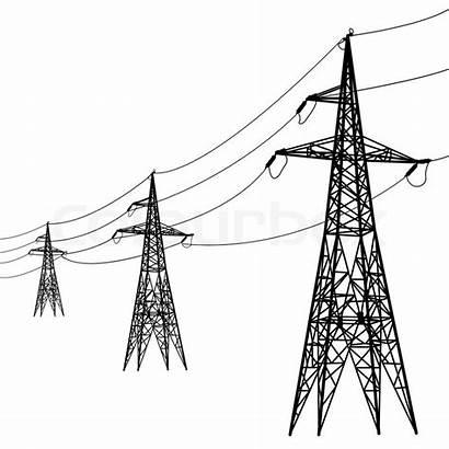 Power Lines Voltage Silhouette Vector Illustration Aarrows