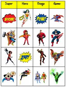 Free Printable Superhero Bingo Cards