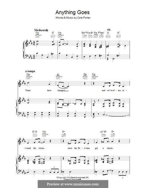 anything goes by c porter sheet music on musicaneo