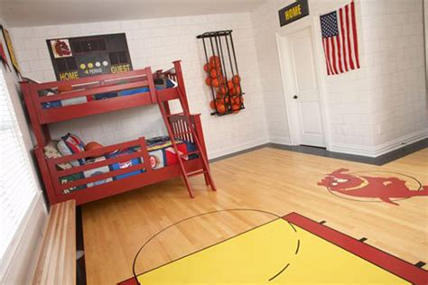 Basketball Bedroom Decor by 20 Sporty Bedroom Ideas With Basketball Theme Home