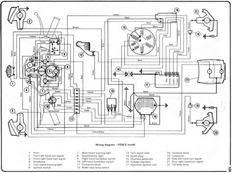 wiring diagrams  vespa p  model wiring diagram
