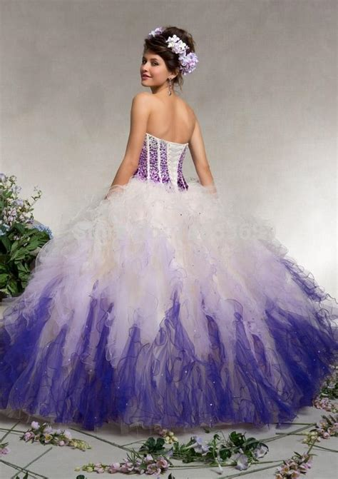 hot pink white quinceanera dress purple blue vestidos