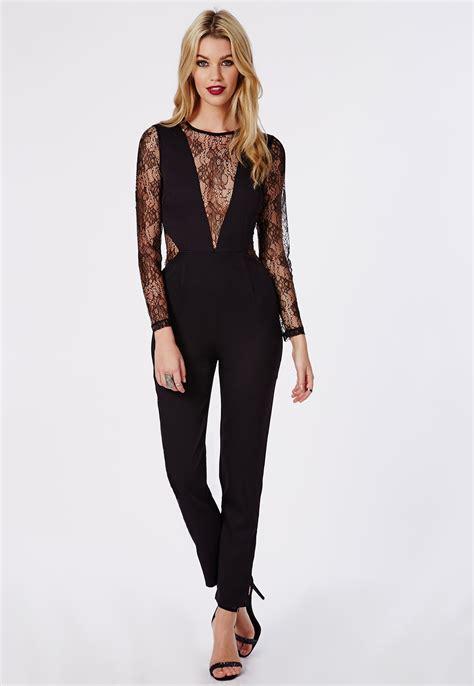 lace jumpsuit lace black jumpsuit fashion ql