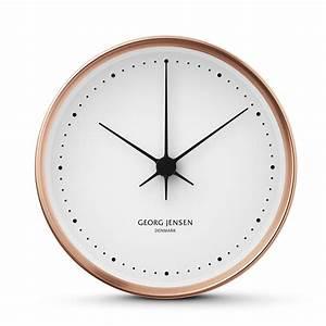 Georg Jensen - Koppel Wall Clock Copper 15cm Panik Design