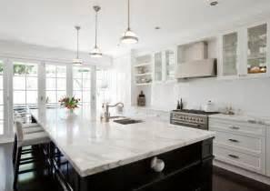 Marble Island Kitchen Calcutta Marble Countertop Transitional Kitchen Porchlight Interiors