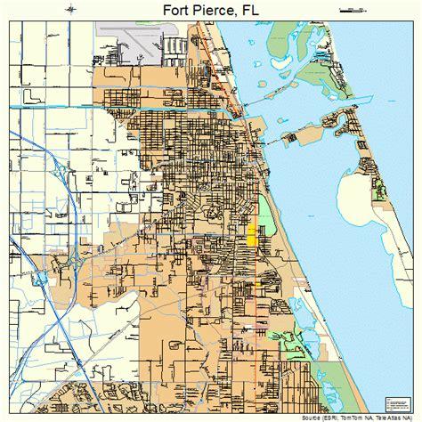 Map Of Fort Pierce Florida.Street Map Fort Pierce Fl