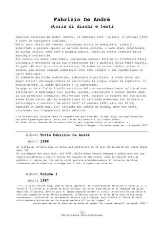 Testo Ave De Andrè - fabrizio de andr 233 faber storia e spiegazione di dischi e