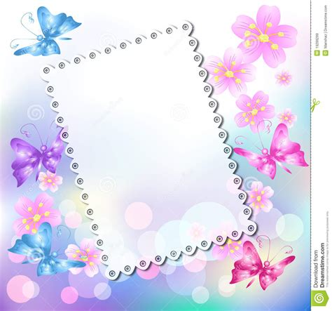 floral background  butterfly royalty  stock images