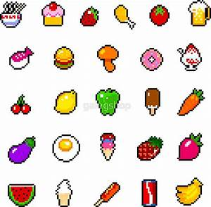 """""""Food - pixel art"""" Stickers by galegshop Redbubble"""