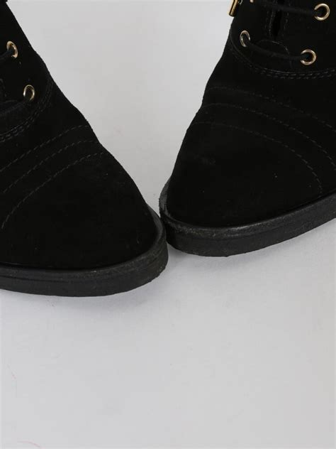 louis vuitton suede lace  ankle boots noir  luxury