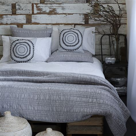 ruffle ruched grey bedspread french bedroom company