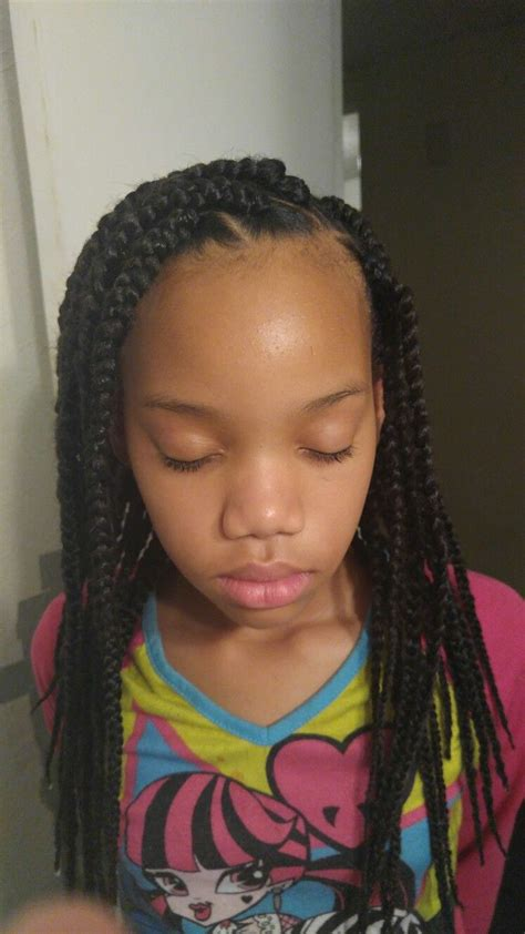 box braids for little girls braided side ponytail