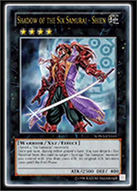 six samurai structure deck list yu gi oh trading card