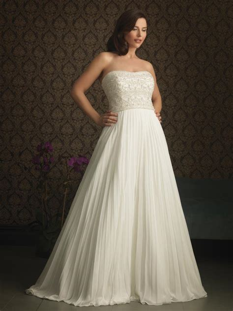 Ivory Strapless Plus Size Wedding Dress