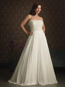 ivory strapless plus size wedding dress zoombridalcom With wedding plus size dresses