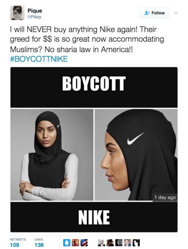 nikes hijab ignites calls  customer boycott