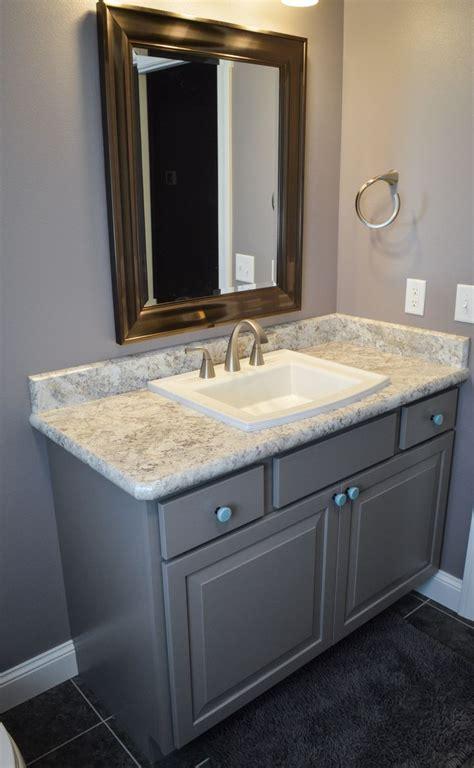 main bath clay cabinets  spring carnival laminate