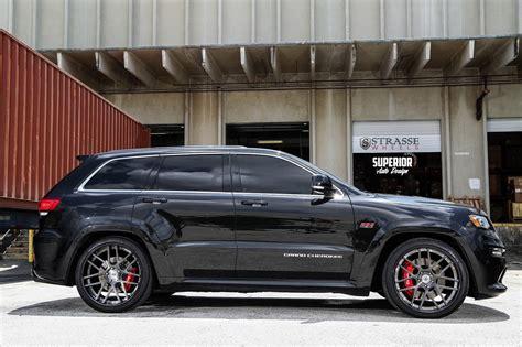 charcoal jeep grand cherokee black rims jeep grand cherokee srt8 strasse wheels tuning cars black