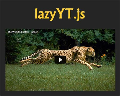 jquery mobile iframe lazyyt js jquery plugin to lazy load iframe