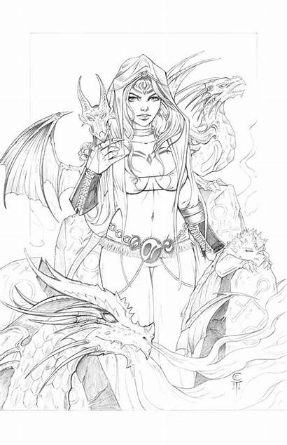 Deviantart Dragons Coloring Pages Pencils Adult Drawing
