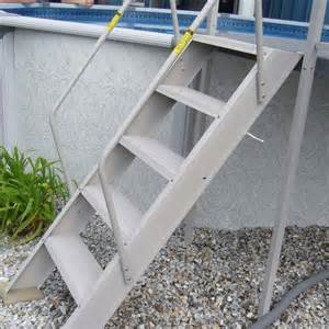 esther williams above ground swing up pool ladder beige