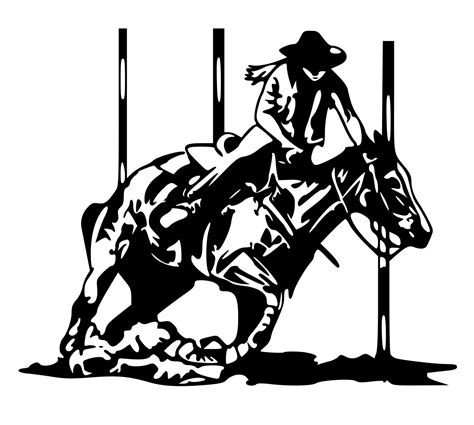 Pin Barrel Racing Colouring Pages On Pinterest
