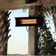 Fire Sense Hanging Halogen Patio Heater Reviews by Fire Sense Black Steel Wall Mounted Infrared Patio Heater 60460