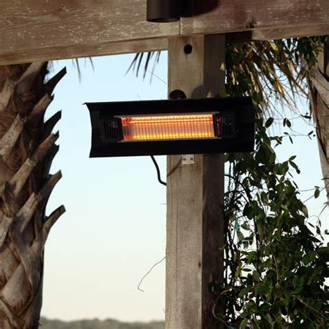 sense black steel wall mounted infrared patio heater