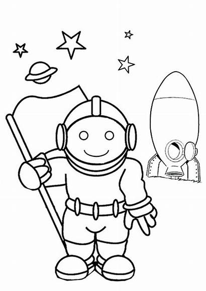 Coloring Astronaut Pages Colouring Space Printable Outline