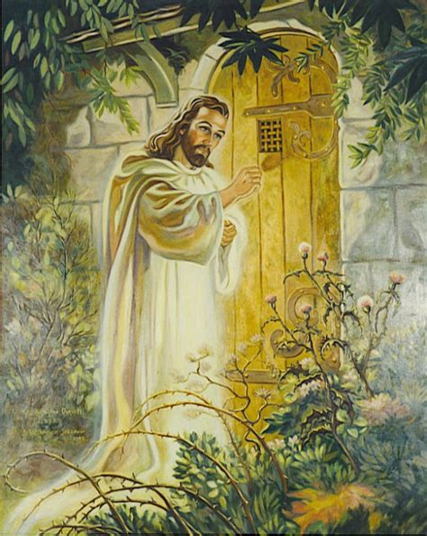 jesus knocking at the door recognize this picture anyone jesus standing at the door