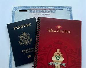Disney cruise line documentation requirements do you for Documents you need for passport