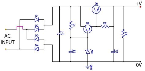 ripple regulated power supply circuit diagram