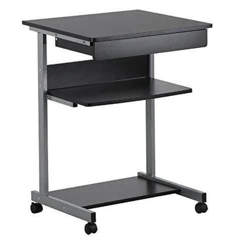 Desk On Wheels With Drawers by Topeakmart Computer Desk Cart For Small Spaces Work