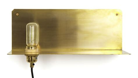 90 176 wall light shelf brass by frama