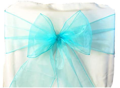 50pcs turquoise organza chair sash bow wedding wholesale