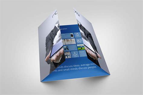 metro single gate fold flyer  behance