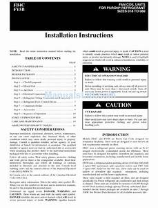 Carrier Fb4cnf024 Installation Instructions Manual Pdf
