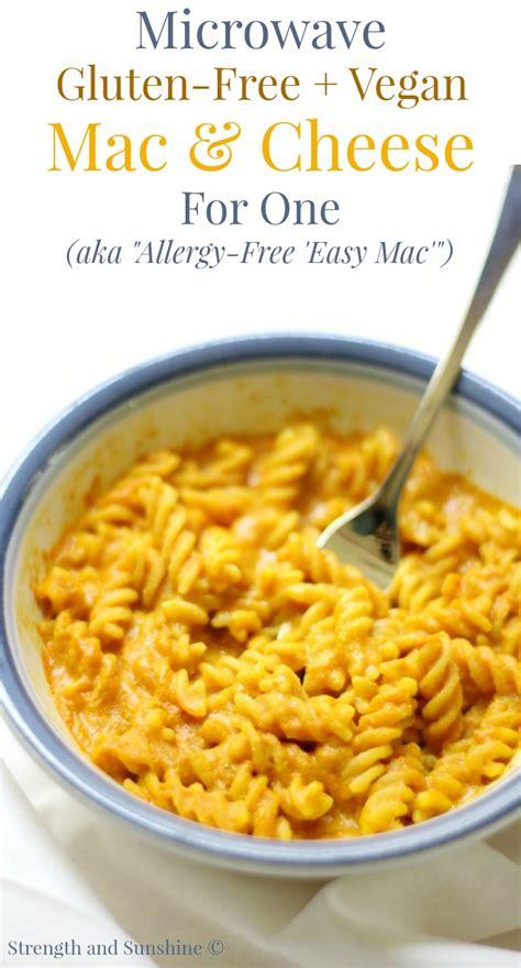 Microwave Gluten-Free + Vegan Mac & Cheese For One