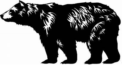 Bear Clip Clipart Alaska Silhouette Bears Drawing