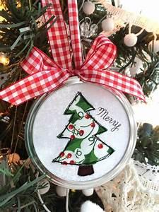 Jar, Lid, Applique, Christmas, Ornaments