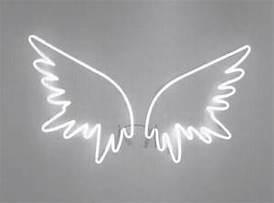 lights aesthetic wings pale neon image by