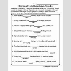 Adverb Worksheet 3  Comparative & Superlative Adverbs