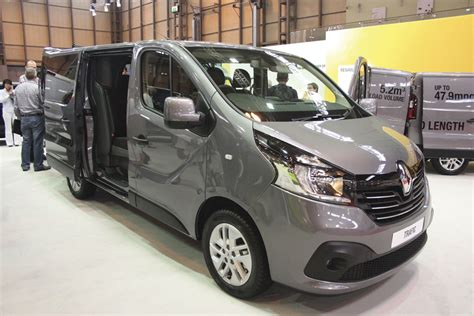 renault van new vans centre stage at cv show bus coach buyer