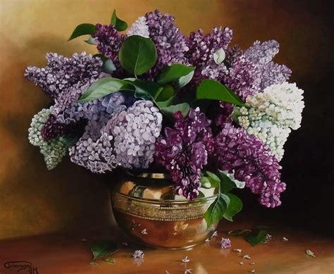 lilas en pot entretien lilas dans pot en cuivre photo de fleurs et nature morte couleurs de toiles