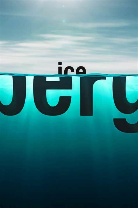 640x960 iceberg typography iphone 4 wallpaper