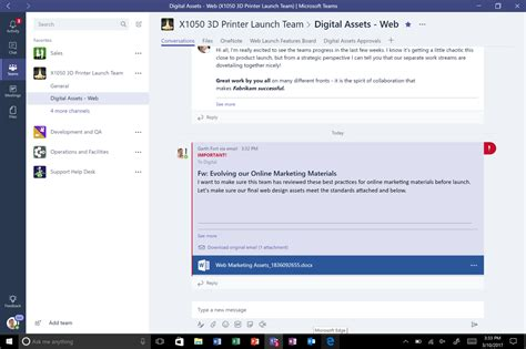 Microsoft teams opended on a laptop with people joining a meeting with their cameras on. Microsoft Teams rolls out to Office 365 customers worldwide - Microsoft 365 Blog